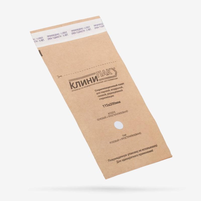 Пакеты бумажные КлиниПак 115 x 200 мм