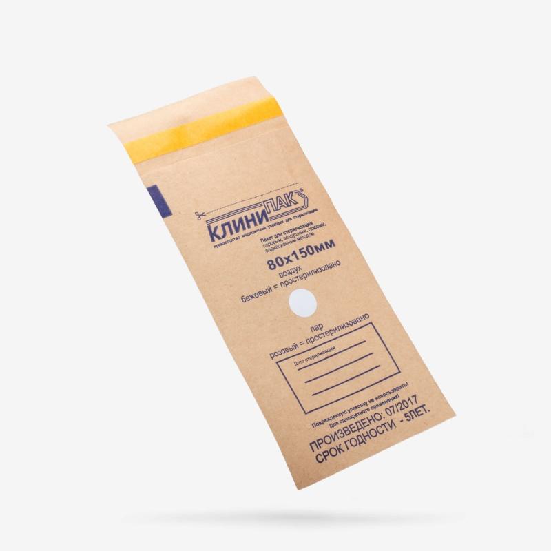 Пакеты бумажные КлиниПак 80 x 150 мм