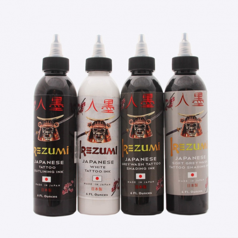 Irezumi Four Bottle Lining and Greywash Set 6 Oz