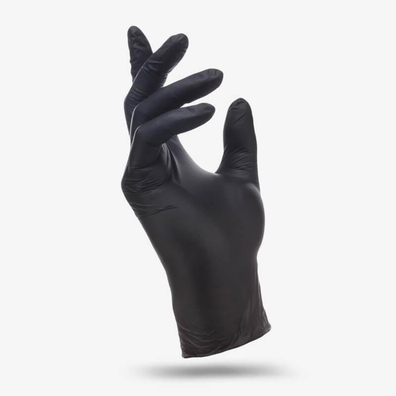 Перчатки Нитровиниловые Wally Plastic черные L