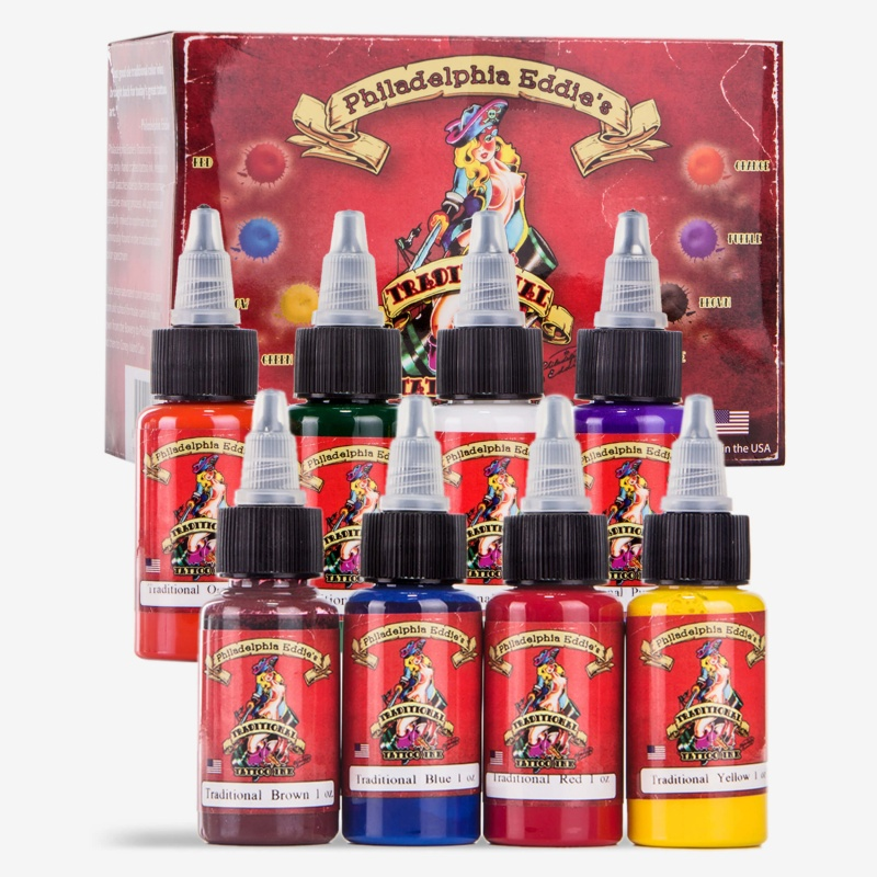 Philadelphia Eddie 8 Color Ink Set 1oz