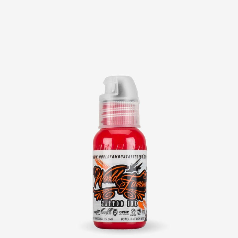 World Famous United Ink Red 1 Oz